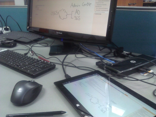 DesktopSetupTabletFlatNoteboarding