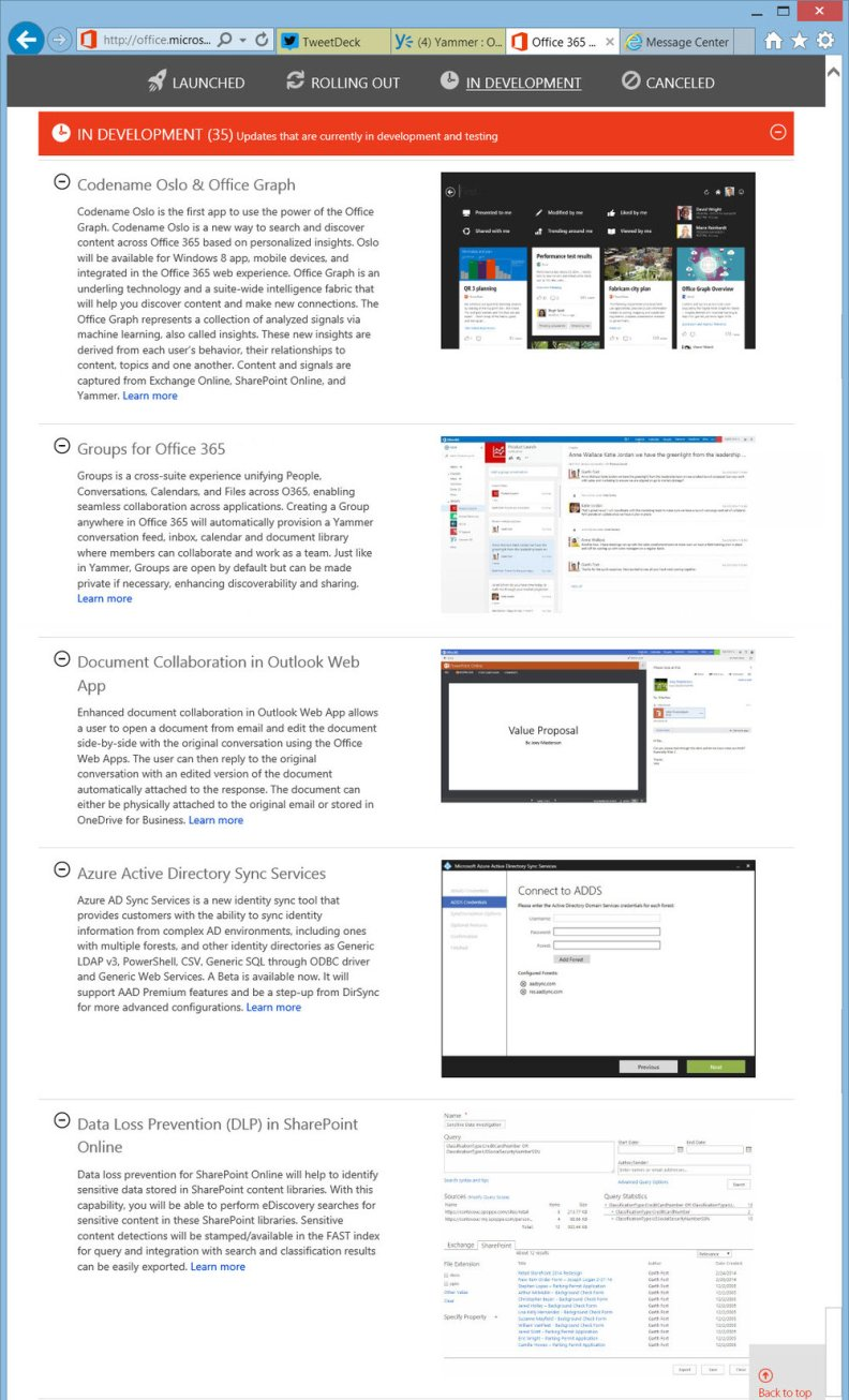 Top 5 most anticipated on the Office 365 Roadmap – Darrell
