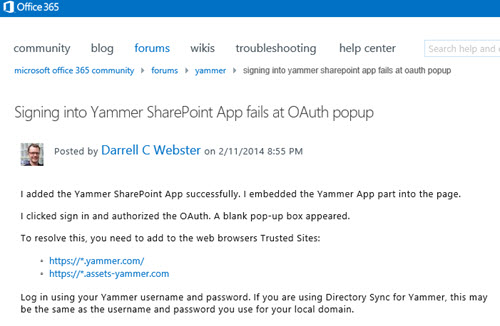 Yammer-OAuth-Community-Post