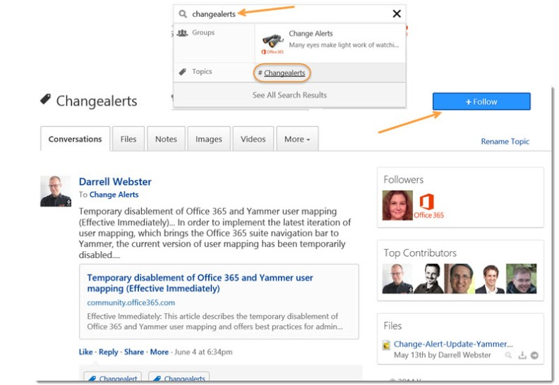 Change-Alerts-Yammer-Group-Follow-topic