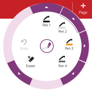 Radial menu for OneNote Windows Store app - Rebecca's Pens