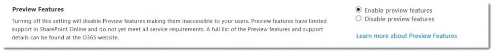 SharePoint-Online-Preview-Feature