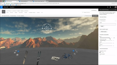 Document library web part with 3D objects