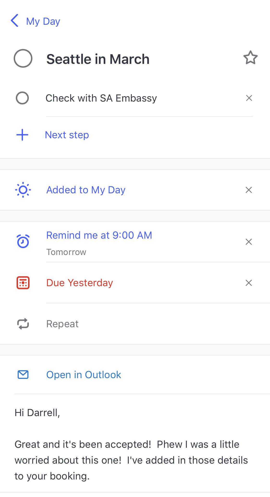 Manage flagged email in Microsoft ToDo – Darrell